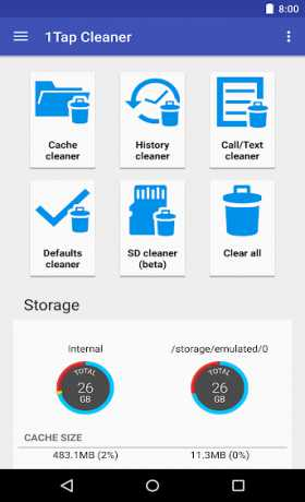 1Tap Cleaner Pro (clear cache, history log)