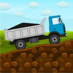 Mini Trucker - 2D offroad truck simulator 1.2.5.4 Apk + Mod (Unlimited Money) for android